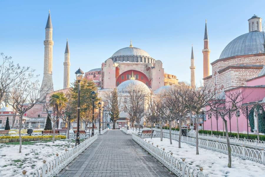 Winter in Istanbul - Hagia Sophia in winter morning