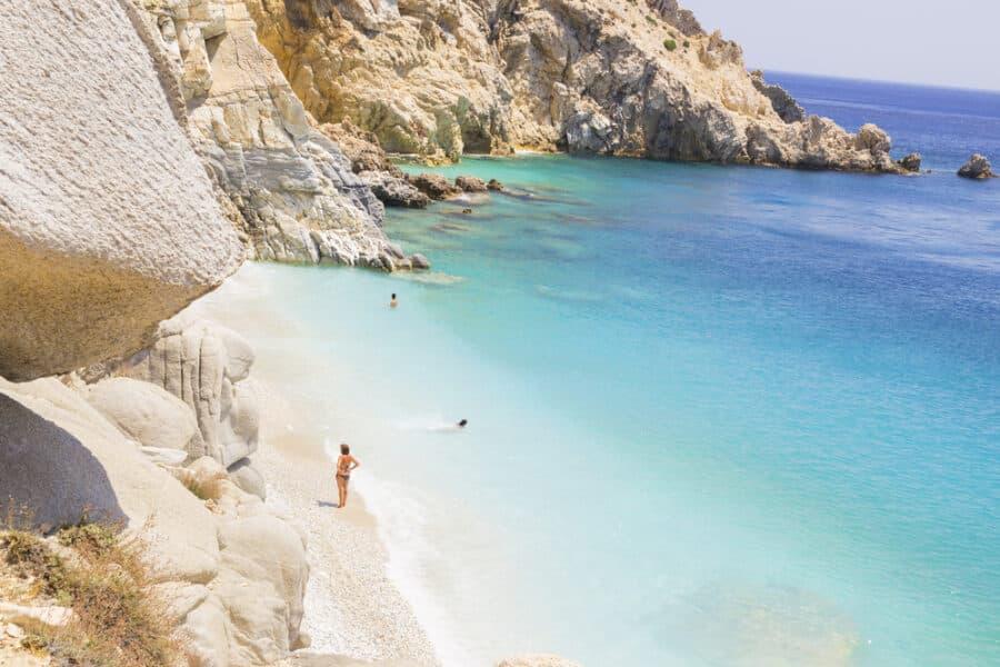 Ikaria island, Seychelles beach , Aegean sea Greece