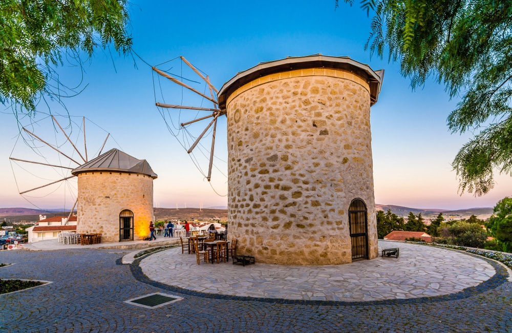 Windmills Alacati, Turkey