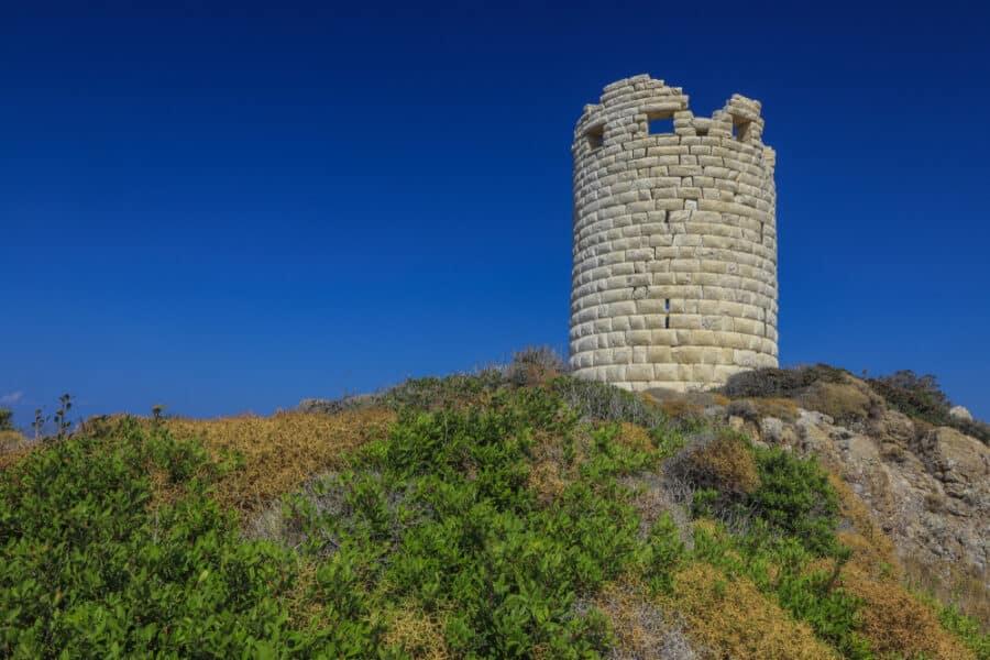 Ancient,Drakano,Tower,In,Faros,Is,The,Landmark,Of,Ikaria